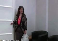 A Duo lesby having fun massaging tits part1