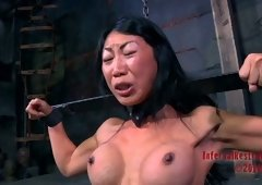 Korean wench Tia Ling receives tied up for a BDSM activity