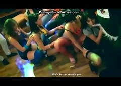 Group sex at the gang bang party at truant's house