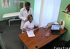 Hot nurse acquires pussy licked and also fucked by doctor