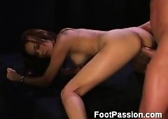 Daisy Marie is one raunchy Latina kitten with great limber legs