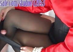 Semen on Mommy's Sheer To Waist Pantyhose