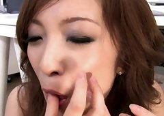 Pretty Japanese MILF Aiko Nagai likes sucking delicious strong shlong