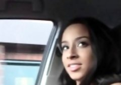 Darksome gf drilled  in the car
