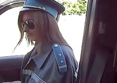 Alluring sexual Policewoman acquires doggystyle
